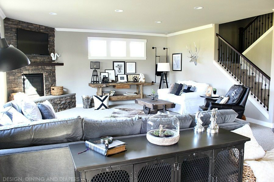 Rustic Modern Family Room Reveal - Taryn Whiteaker