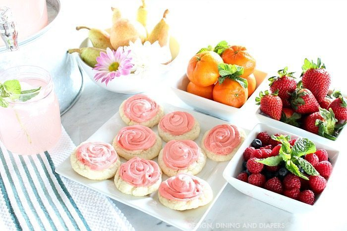 Spring Snack Bar With Fruit and Cookies