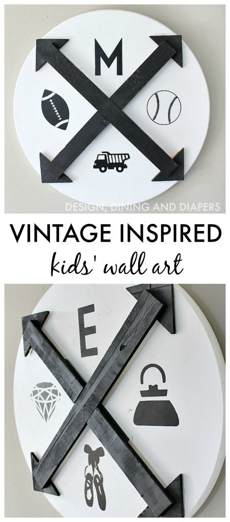 Add a little personalization to your kids' rooms with this Vintage Inspired Wall Art!