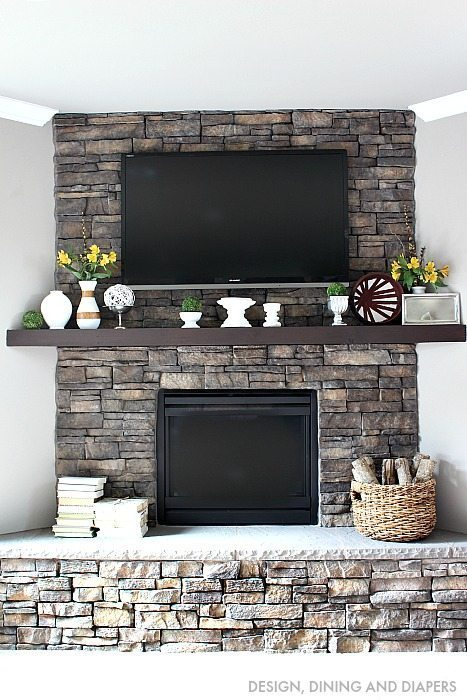 Eclectic Spring Mantel