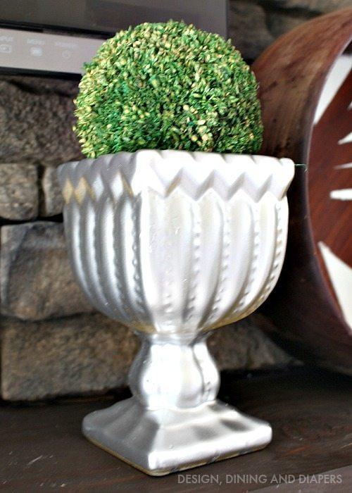 Spray painted vase