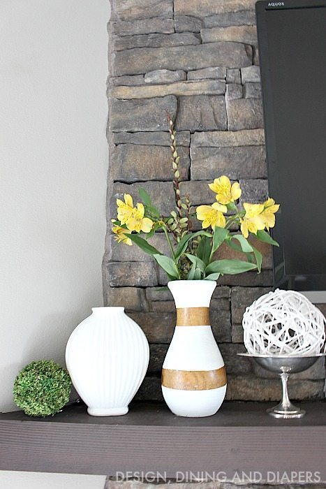 Spring Mantel with mixed metals