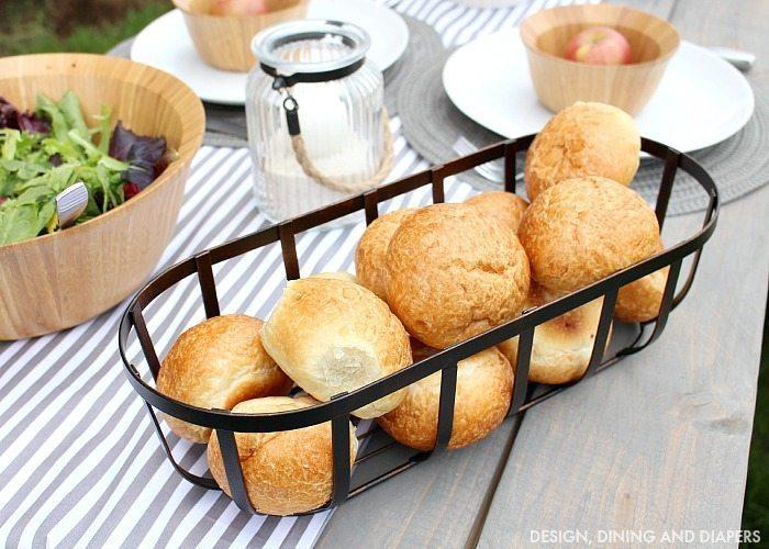 BHG Bread Basket and Salad Bowl