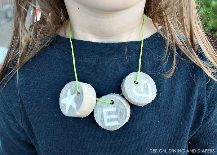 Camp Crafts - DIY Wood Necklace
