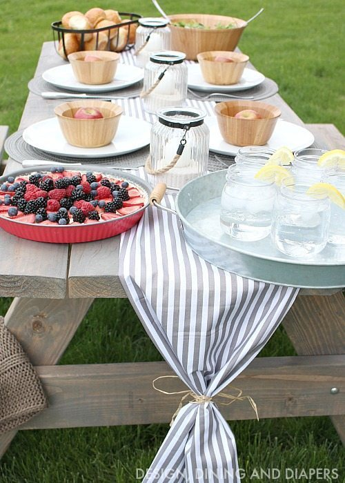 Outdoor Table Setting Ideas Taryn Whiteaker