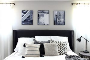 Black and White Master Bedroom Updates + Giveaway