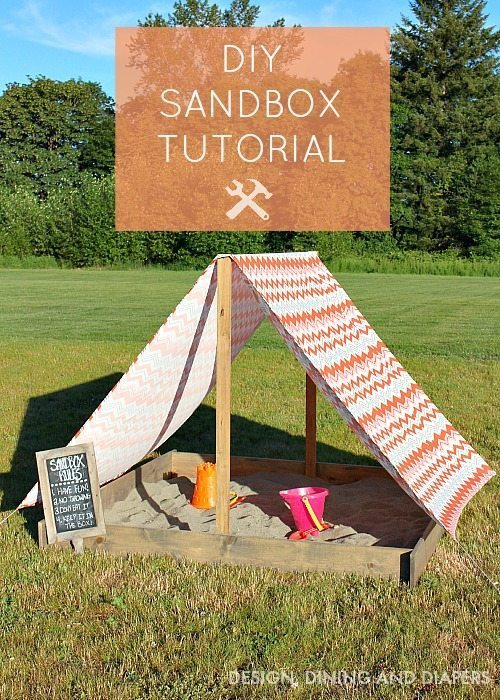 DIY Sandbox Tutorial With Cover