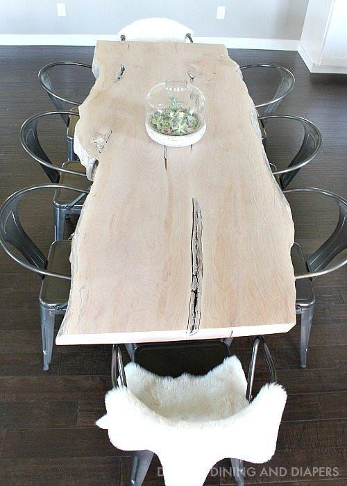 Maple Live Edge Slab Table
