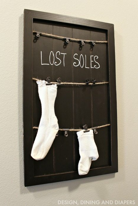 Lost Soles Sign for Laundry Room