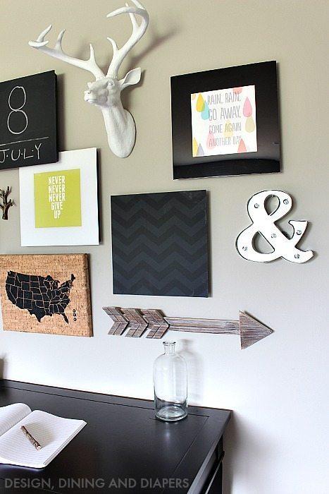 Modern Playroom Gallery Wall