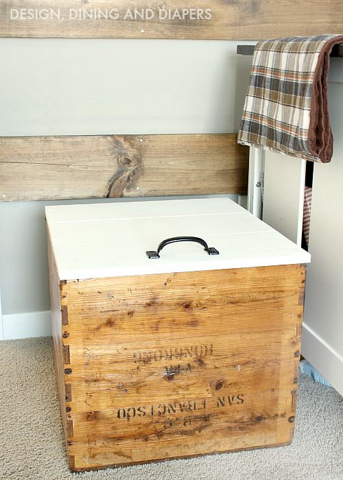 Toy Chest Made From vintage shipping crate