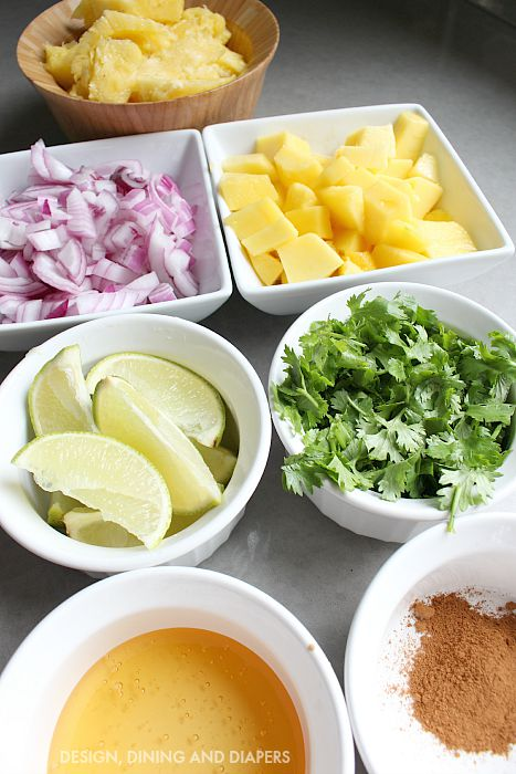 Ingredients of Pineapple Mango Salsa
