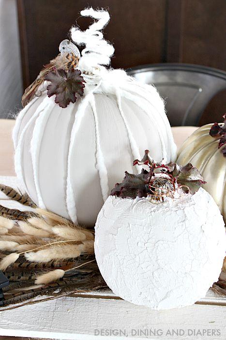 Neutral Tablescape with DIY Pumpkins