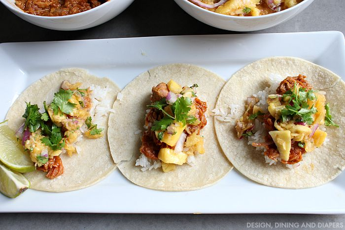 Pulled Pork Tacos with Pineapple Mango Salsa