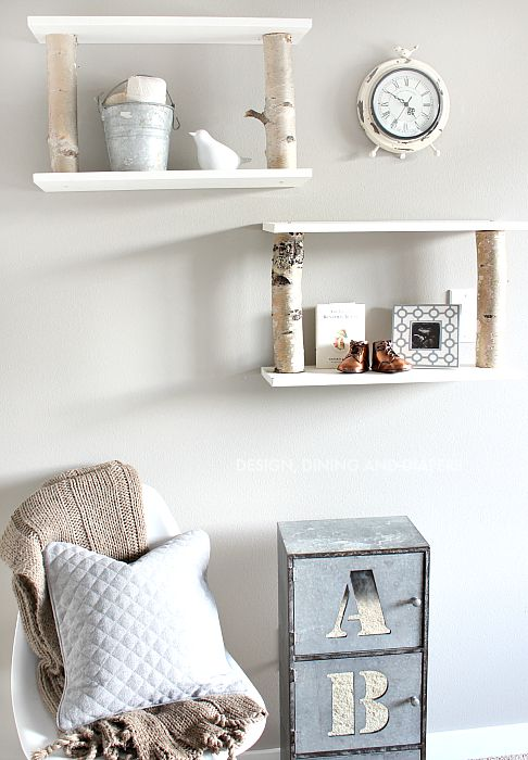 Birch Shelves in Nursery