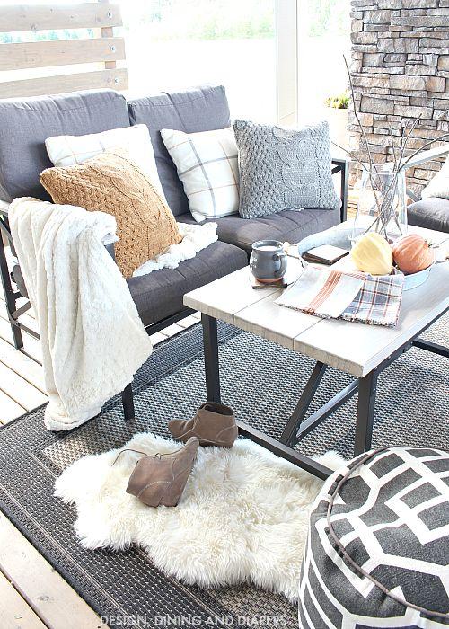 Cozy Outdoor Living Decor