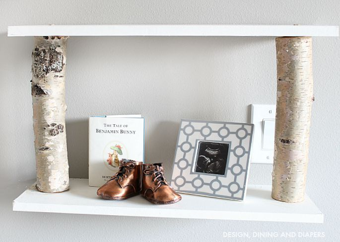 DIY Birch Shelves
