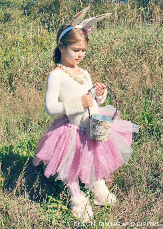DIY bunny costume for little girl