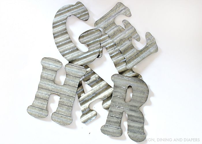 Metal Letters from Hobby Lobby