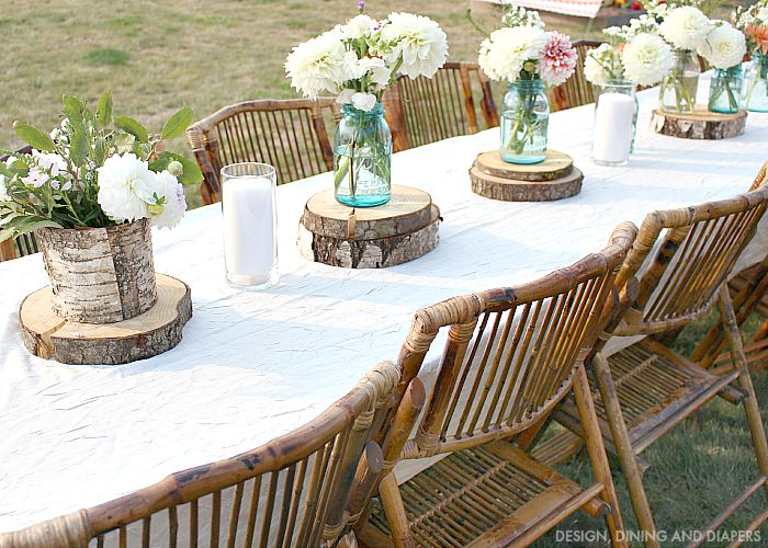Rustic Outdoor Table Decor