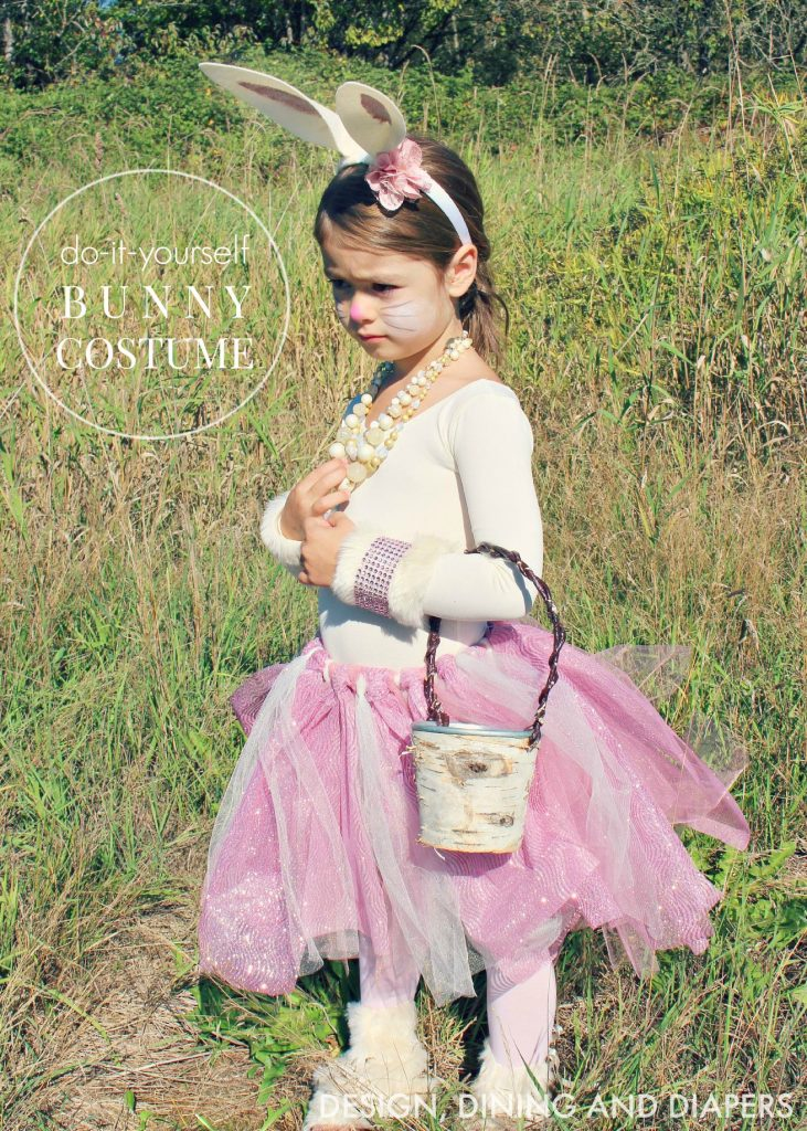 Shabby Chic DIY Girls Bunny Costume