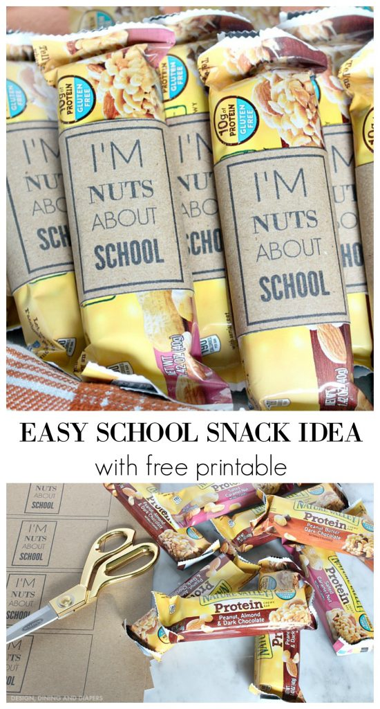 EASY SCHOOL SNACK IDEA WITH FREE PRINTABLE