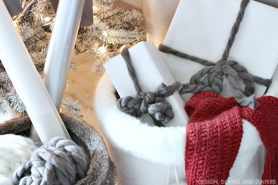Fur Baskets under Christmas Tree