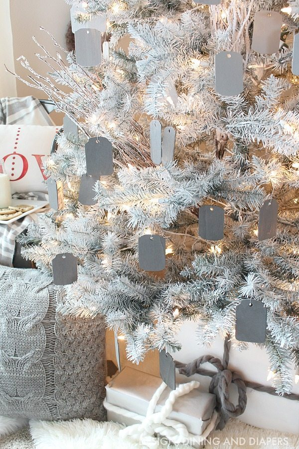 Gray and White cozy tree