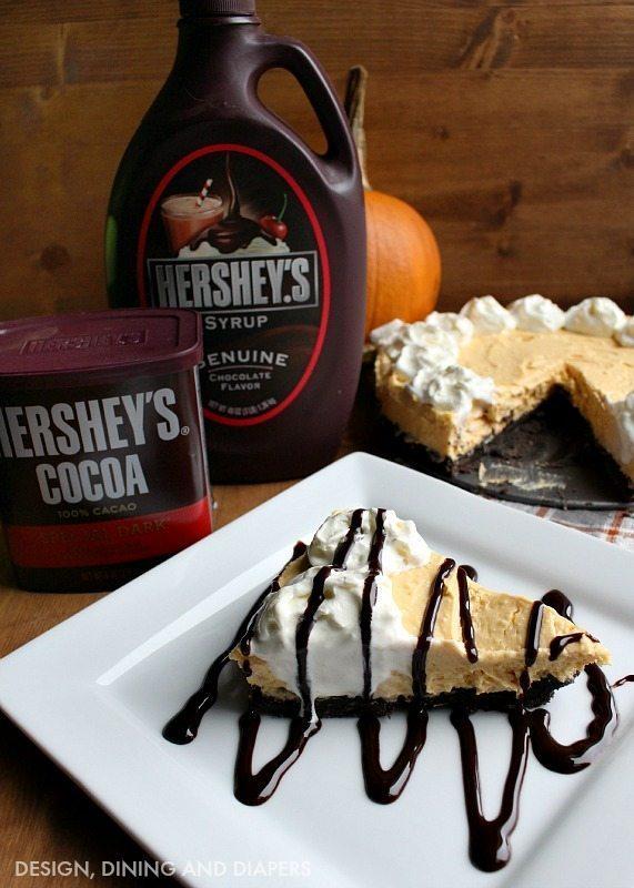 Pumpkin Cream Cheese Tart with Hershey's Crust