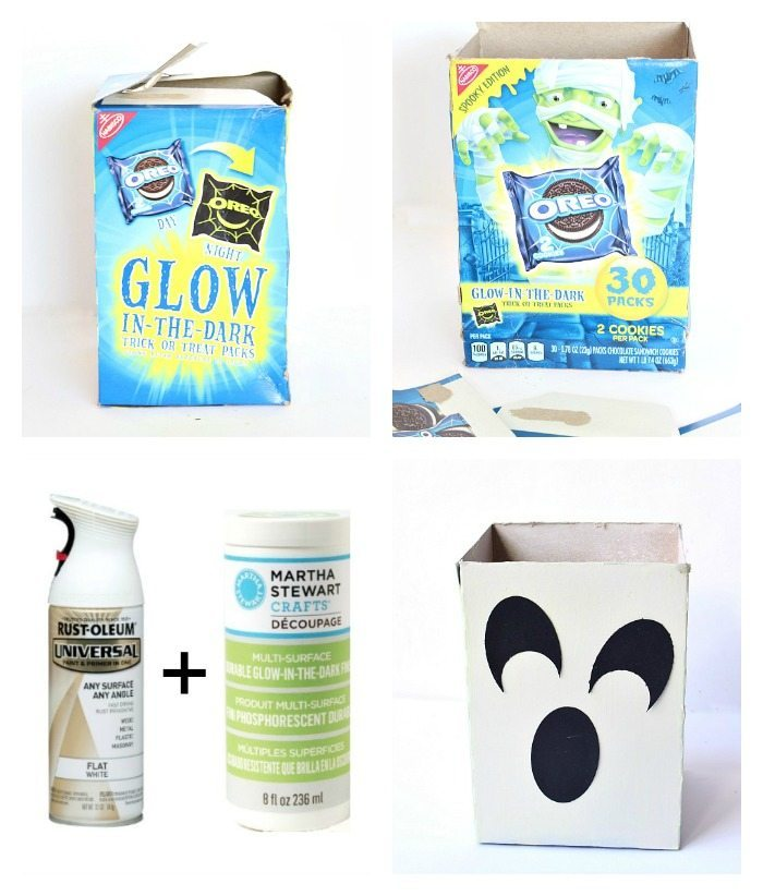 Recycled Snack Box into Ghost Treat Box