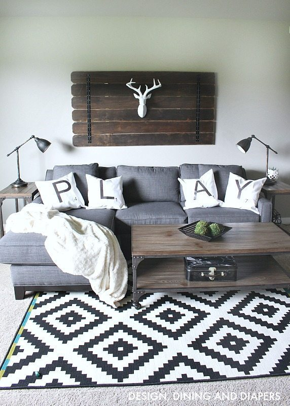 Rustic Modern Playroom