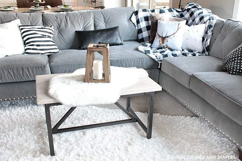 Black and White Winter Decor