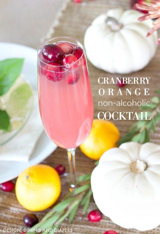 Cranberry Orange Non-Alcoholic Cocktail