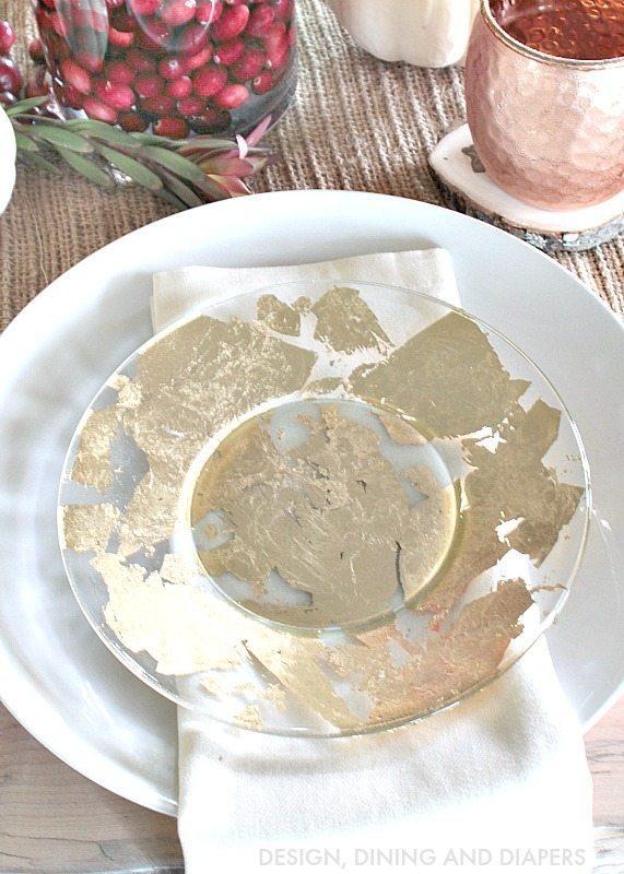 DIY Gold foil plates