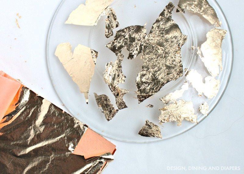 DIY Gold foil plates - TUTORIAL