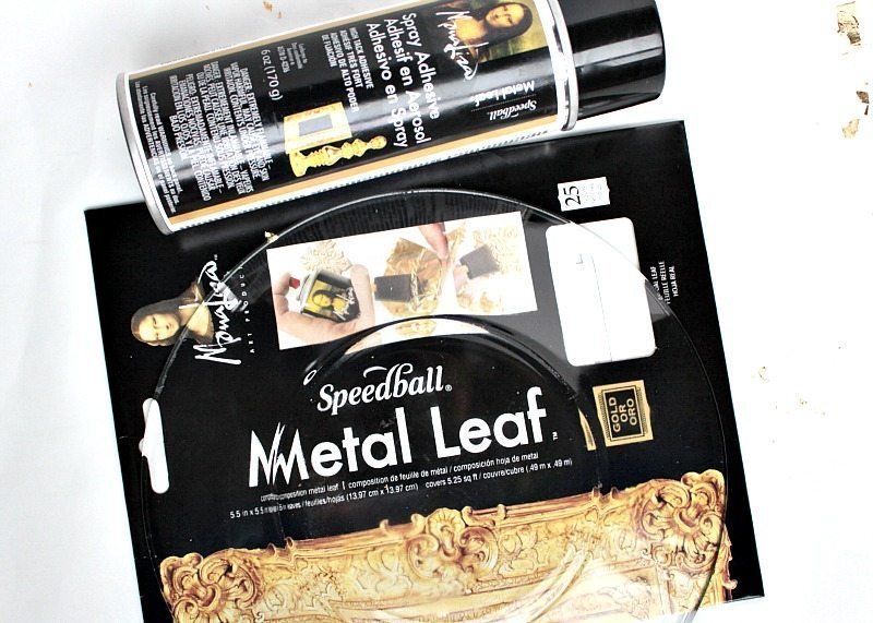 DIY Gold foil plates kits