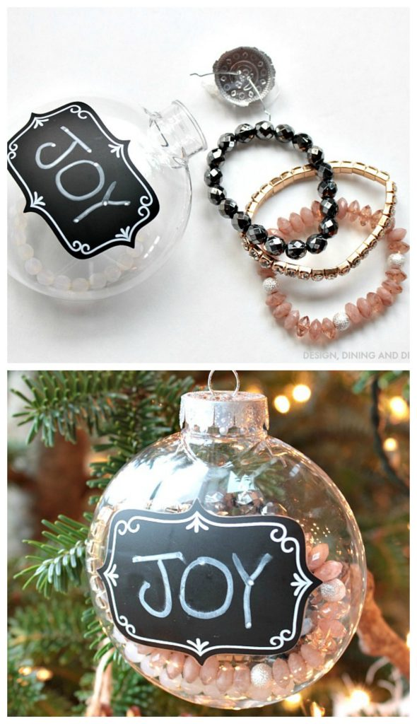 DIY Ornament Gift - Hang party favors on the tree