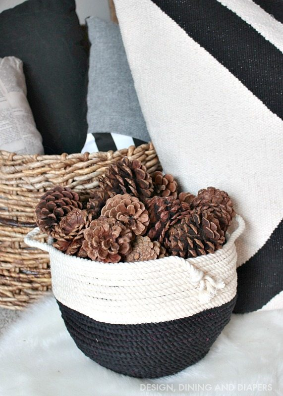 DIY Rope Basket - Perfect touch to holiday decor
