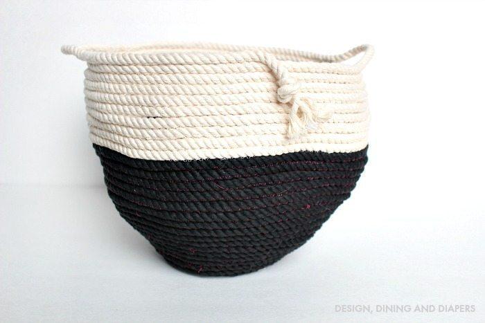 Diy Rope Basket Completed