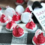 HERSHEY'S Kisses Santa Hat Chocolates and Free Printable