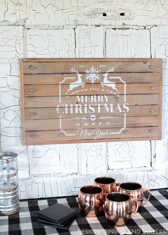 Moscow Mule Mugs and Christmas Decor