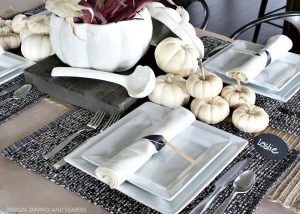 Black and White Fall Tablescape