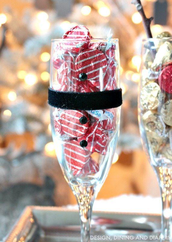 Santa champagne glass