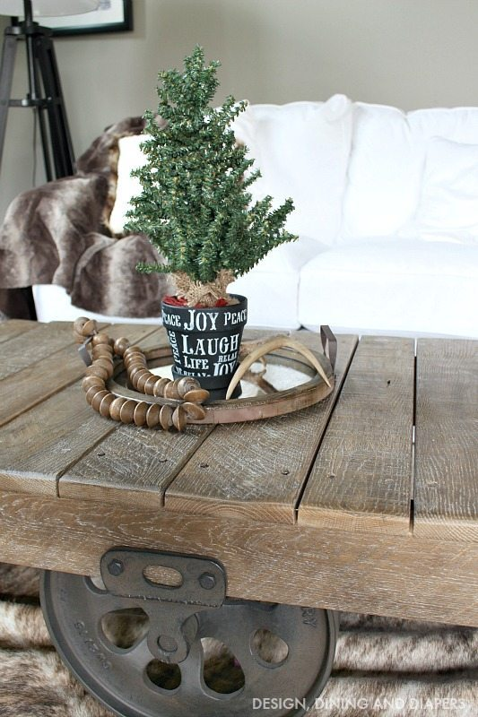 Simple Typography Pot with Mini Christmas Tree