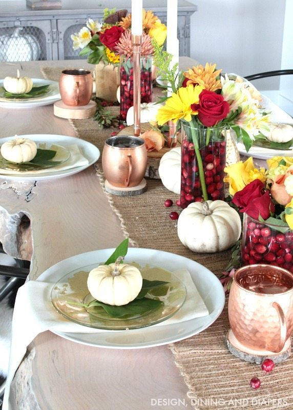 Thanksgiving table setting and more taryn whiteaker for Easy table settings for thanksgiving