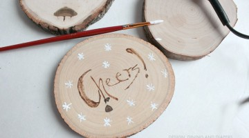 DIY Gift Idea – Personalized Wood Burned Coasters + Cash Giveaway