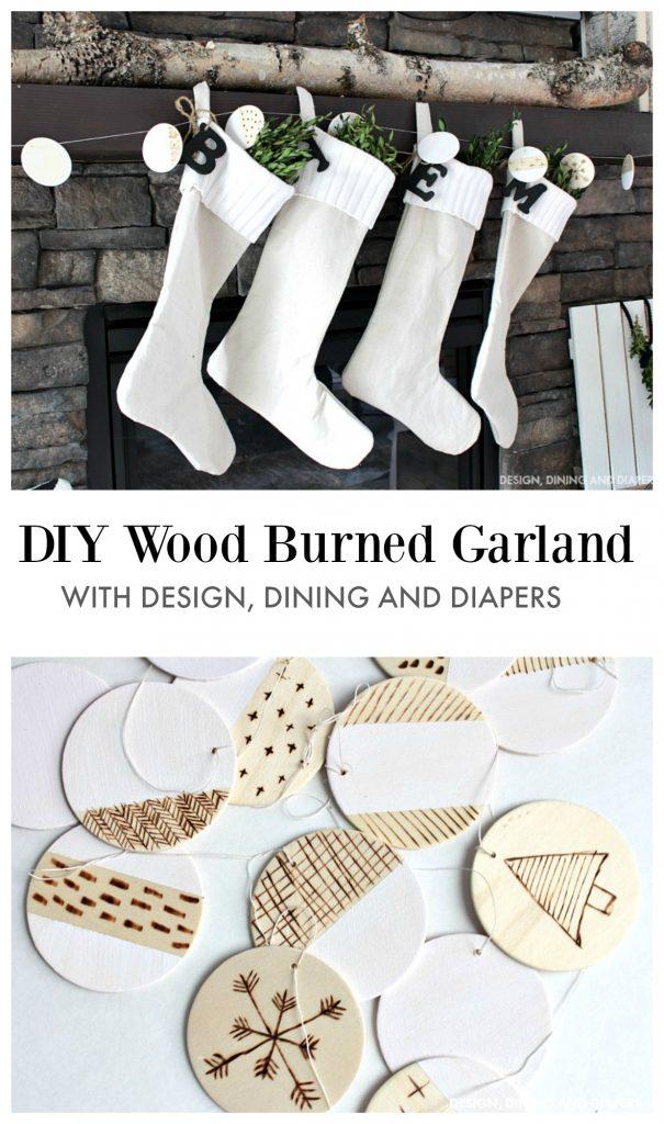 DIY Wood Burned Garland Tutorial