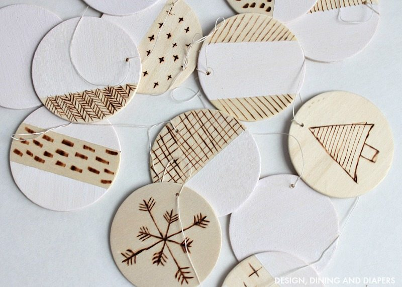 DIY Wood Burned Garland