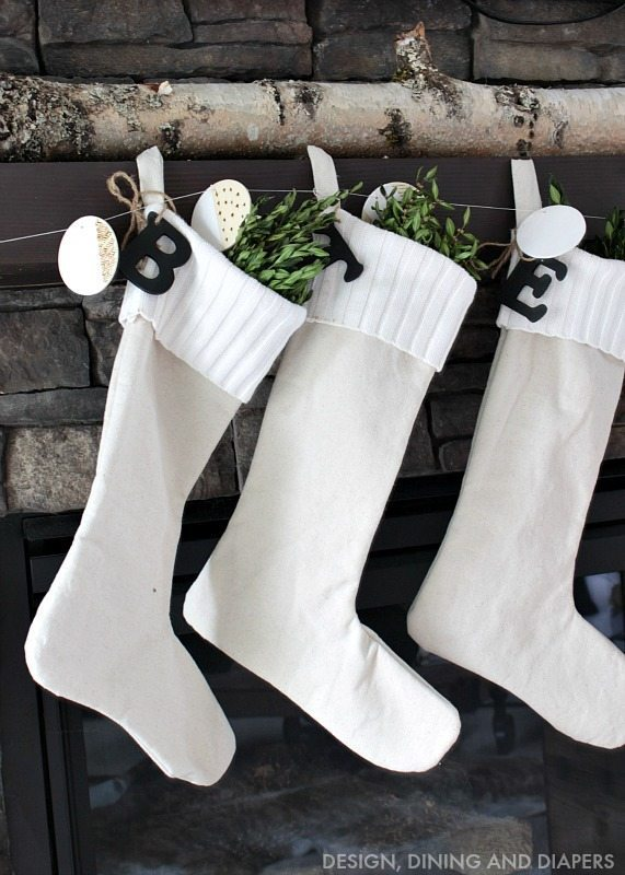 Drop Cloth Stockings with Sweater Cuff