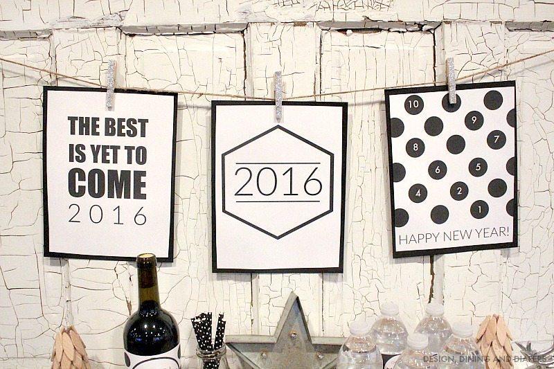 Free Modern New Years Printables
